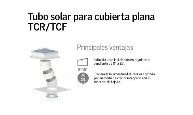 Tubo solar para cubierta Plana